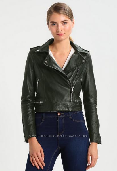 Oakwood, Франция. куртка косуха из мягкой кожи тёмно-малахитового цвета