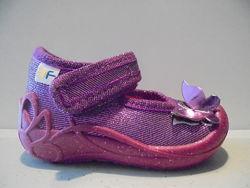 3F текстильные туфли для девочек производства Польши