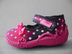 Viggami текстильные туфли для девочек производства Польши