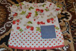 Летняя блузка NEXT с клубничками