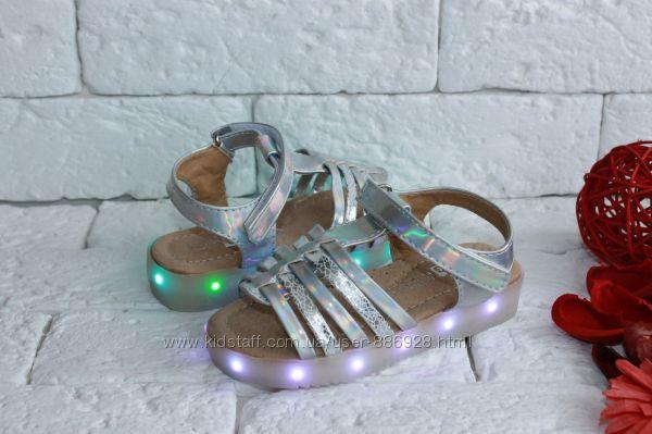 Стильные босоножки с LED подсветкой