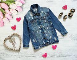 Удлиненная джинсовая куртка Италия
