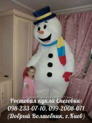 Оригинальное, необычное поздравление зимой, ростовая кукла Снеговик-почтови