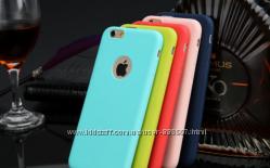 Тонкий силиконовый чехол для Iphone 6 6S 7 8 цветов