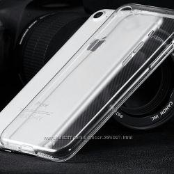 Силиконовый прозрачный чехол для iphone 7