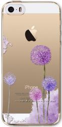 Силиконовый чехол одуванчик для iphone 5 5S