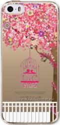 Силиконовый прозрачный чехол с деревом для iphone 5 5S