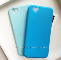 силиконовый чехол iphone 5 5S 6 6S 7 8 с заглушками