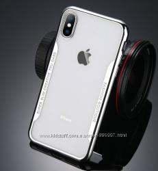 Силиконовый чехол Super Slim Creative TPU с серебряными ободами iphone X