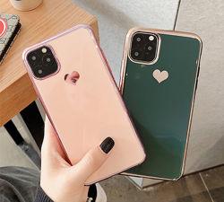 Силиконовый чехол c сердцем для iPhone 11 11pro max