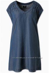 Летнее платье А силуэта цвет синий джинс C&A