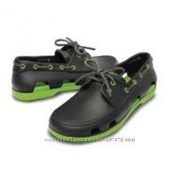 Crocs Summer Beach Line Boat Shoe Mens M7 оригинал крокс