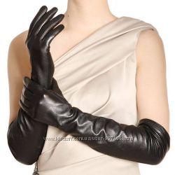 Женские кожаные перчатки на шелковой подкладке Длинные Ж008ЧО