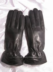 Женские кожаные перчатки на шерстяной подкладке Ж003ЧШ