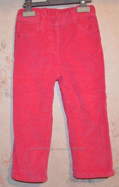 Вельветовые брючки брюки на флисе Topomini 92см. можно и позже
