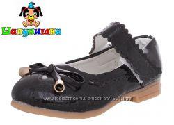 Новые туфли для девочки Шалунишка 25 26 27 28 29 Черные