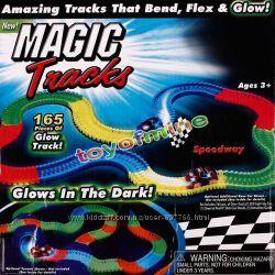 Светодиодная трасса, гоночная трасса Magic Tracks Мэджик трек трасса для