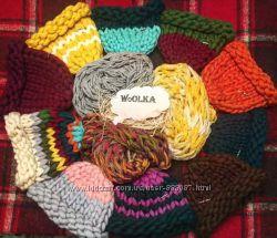 Шапки и шарфы из толстой пряжи 100 шерсть мериноса