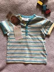 Новая фирменная футболка на мальчика 68-74  размер