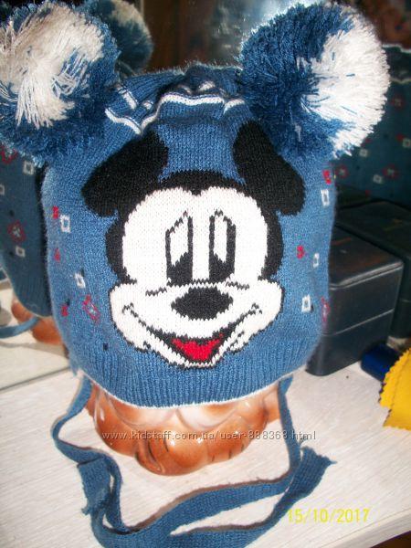 Теплая шапка Микки от Arctic на 1-2 года