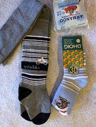 Новые колготки 80-92 и теплые носки Дюна 3Д 14-16