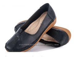 Туфли-мокасины женские, эко-кожа, р. 37 - 40