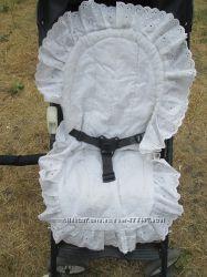 Кружевной вкладыш в коляску в прогулку матрасик чехол