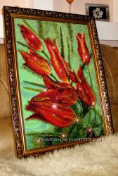 Картины бисер панно роспись одежды стекла стен