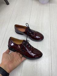 Кожаные и замшевые туфли полуботинки Разные цвета