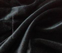 черный бархат  ткань, погонный, отрезы, велюр