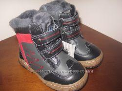 Ботинки зимние кожаные для мальчика новые р. 21-26 на натуральном меху
