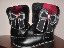 Шикарные качественные зимние сапожки для девочки 28-33 размер