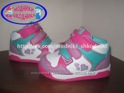 Новые кроссовки для девочки b&g LD1115-7816P ботиночки, р. 22-27