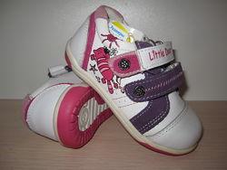 Новые кожаные кроссовки для девочки little deer LD2716-800 ботинки, р. 22-2