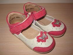 Летние туфли, туфельки для девочки Берегиня 2611 кожаные р. 20-25 босоножки