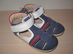 Летние туфли, туфельки для мальчика Берегиня 2519 кожаные р. 20-25 босоножк