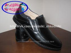 Туфли школьные кожаные классические арт. С691-2 Kangfu р. 31-36 шкіряні