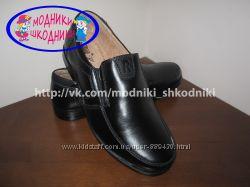 Туфли школьные кожаные классические арт. С673-2 Kangfu р. 31-36 шкіряні