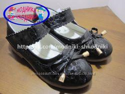 Туфли школьные на девочку арт. 300-168 р. 26-30 Шалунишка нарядные туфлі шк