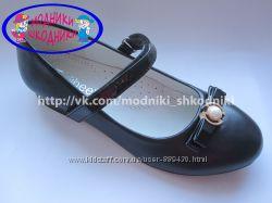 Туфли нарядные на девочку синие Clibee D-510 р. 31-36 туфлі святкові сині