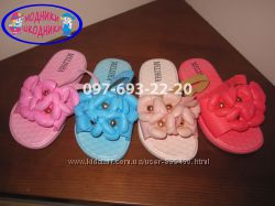 Шлепанцы детские на резиночках Melisha А516-1 р. 24-29 для девочки сланці