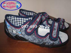 Текстильные польские босоножки Тм Renbut арт. Jeans 33-378-0687 р. 28-30