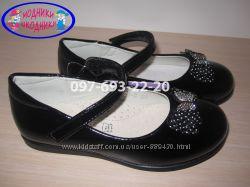 Туфли школьные на девочку черные Tom. m арт. 1421-В р. 26-31 туфлі шкільні