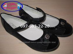 Туфли школьные на девочку черные Tom. m арт. 1433-В р. 32-37 туфлі шкільні