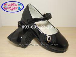 Туфли школьные на девочку черные Tom. m арт. 1425-В р. 26-31 туфлі чорні шк