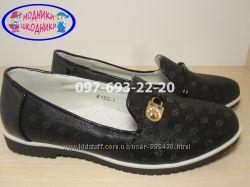 Туфли школьные на девочку арт. Е155-1 р. 31-37 нарядные туфлі шкільні