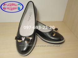 Туфли школьные на девочку арт. G-067-6 р. 30-37 нарядные туфлі шкільні