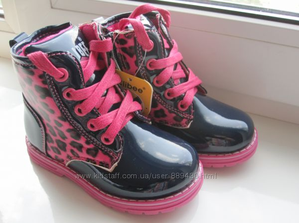 Ботиночки демисезонные для девочки Clibee H581 р. 21-26 ботинки хайтопы