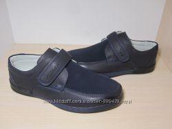 Туфли школьные на мальчика синие Clibee арт. 191 р. 32-37 туфлі сині шкільн