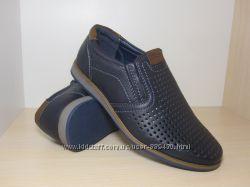 Туфли школьные на мальчика синие Paliament С-335-1 р. 31-36 туфлі сині
